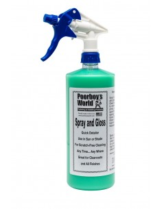 Poorboy's World Spray and Gloss Quick Detailer priemonė