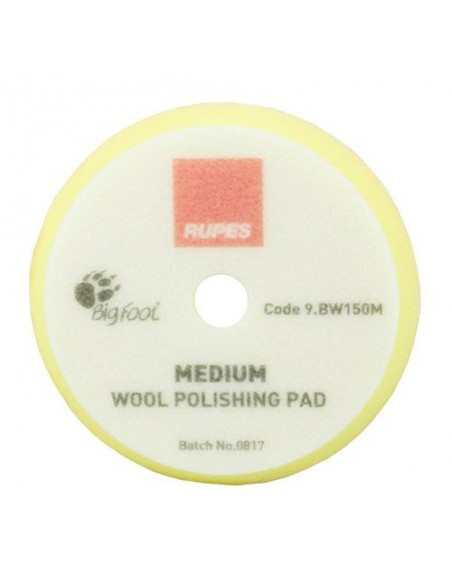 Rupes Yellow Medium Wool Polishing Pad 150mm