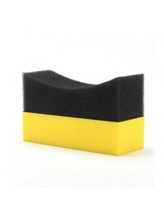 Luxus Black and Yellow Padangų juodinimo kempinėlė-aplikatorius