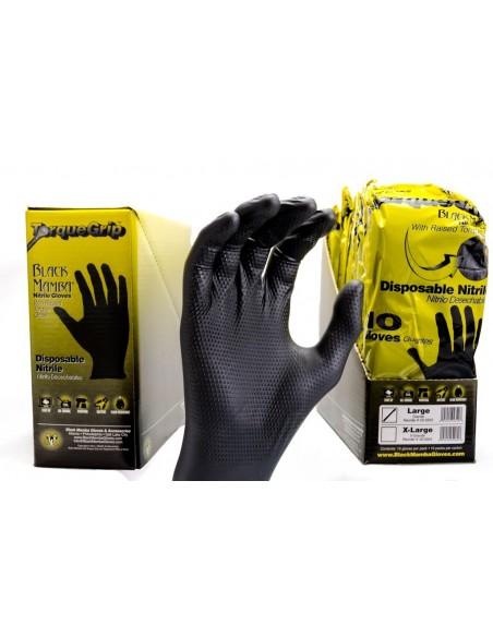 Black Mamba Torque Grip nitrilo pirštinės 10 vnt (L - XL)