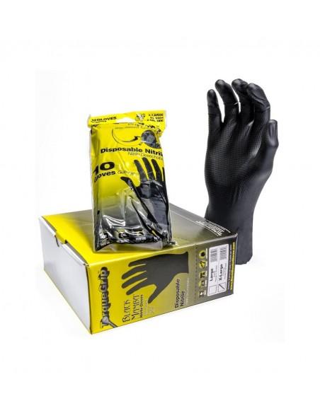 Black mamba Torque Grip nitrile gloves 10 pcs. (L - XL)