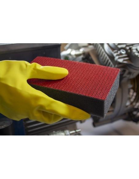 Luxus Power Sponge HD Red - kempinėlė sunkiai nuvalomiems nešvarumams šalinti