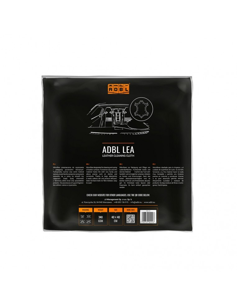 ADBL LEA leather cleaning cloth
