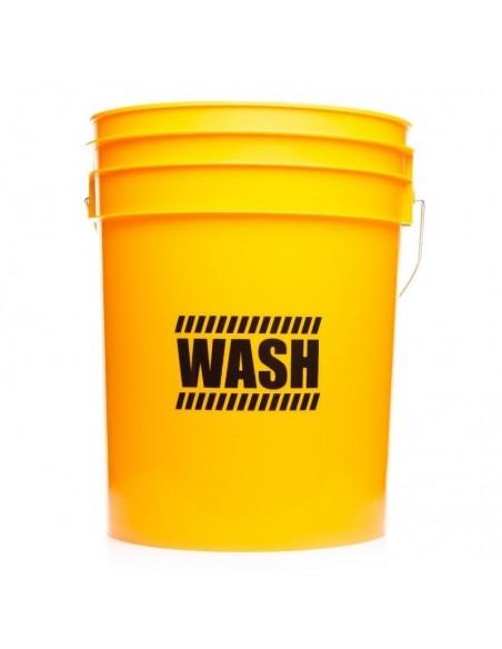 WORK STUFF Detailing Bucket Yellow WASH plovimo kibiras + grotelės