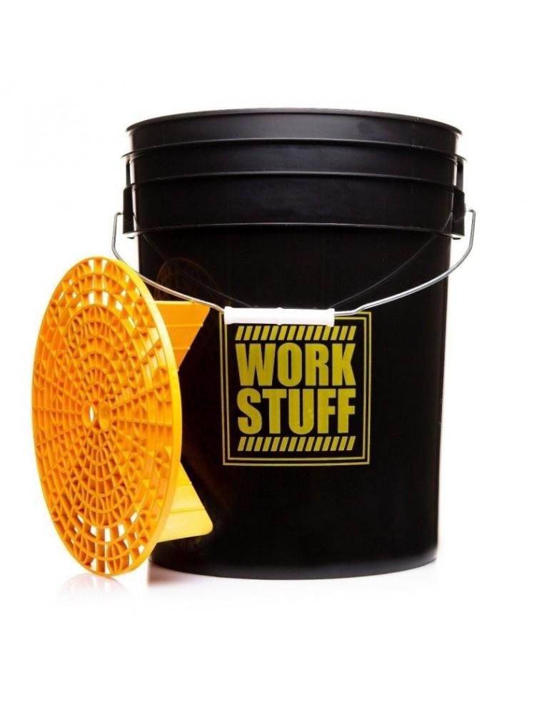 WORK STUFF Detailing Bucket Black RINSE plovimo kibiras + grotelės