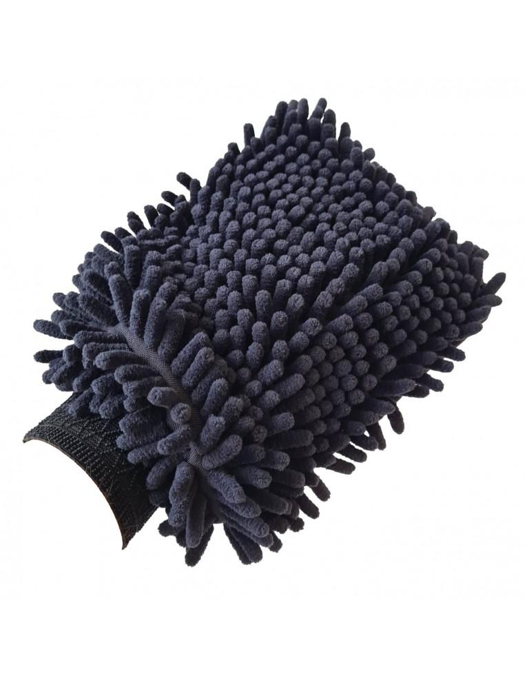 Luxus Black microfiber washing glove